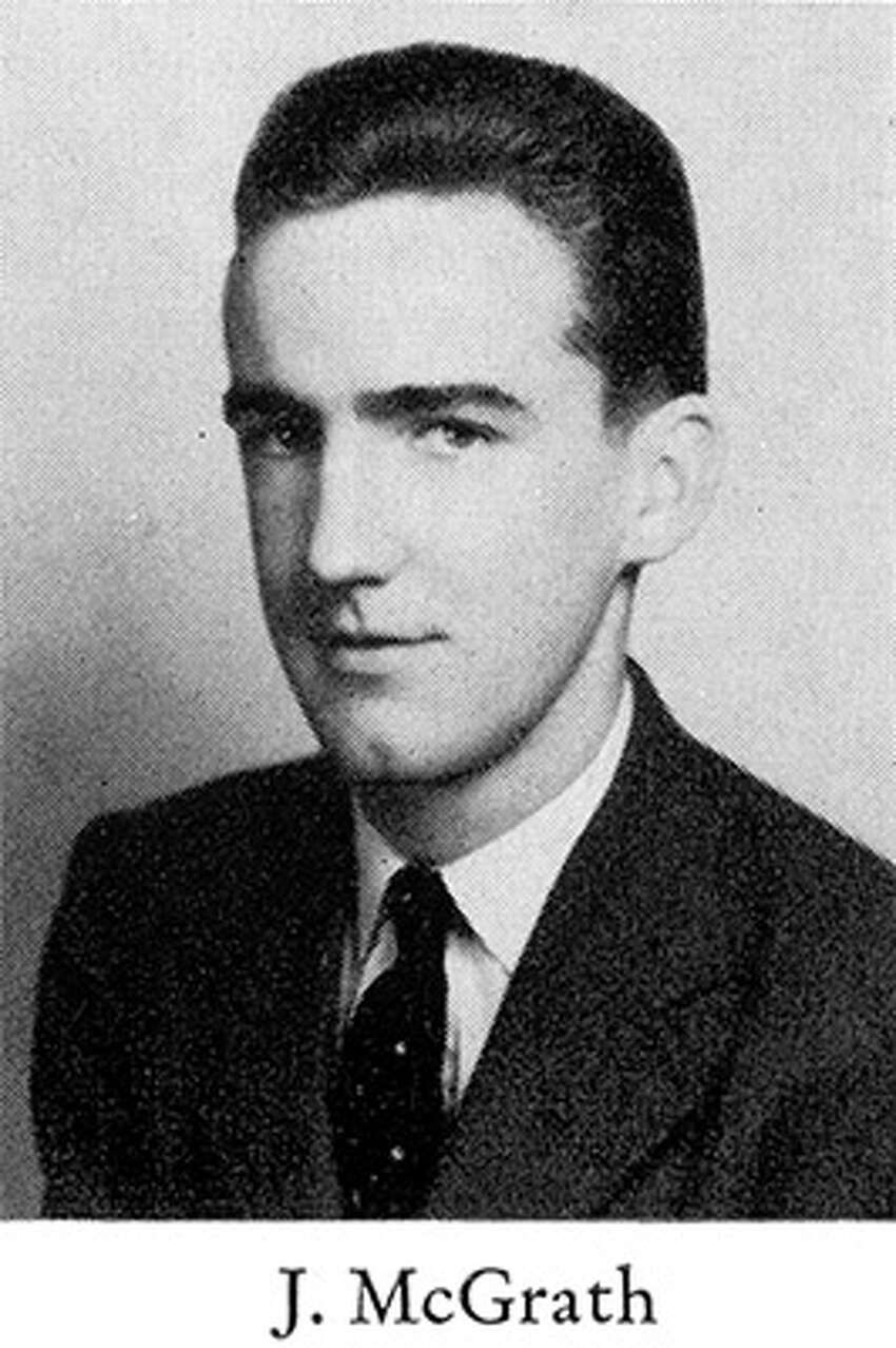 2nd Lt. John McGrath's Class of 1941 yearbook photo for Catholic Central High School in Troy, N.Y. The Troy native's aircraft went down off the coast of Japan during World War II and he is listed as missing in action.