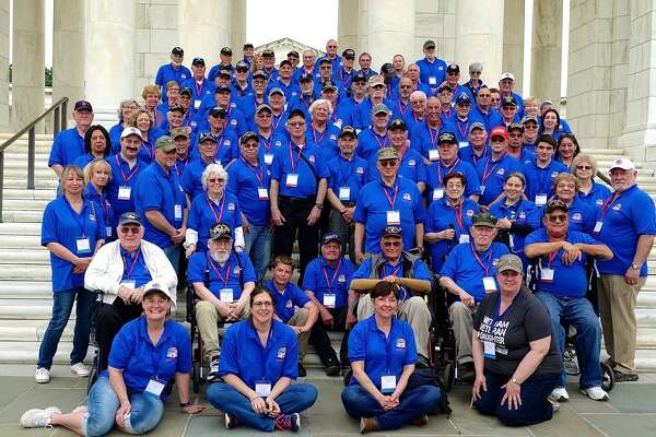 Veterans, guardians and volunteer staff visit Arlington National Cemetery during the May 4 Patriot Flight from Albany. (Courtesy Bob Wolfgang)