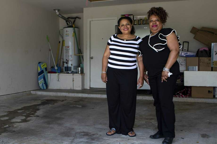 Gwendolyn Wright, left, and Balethia Gayden stand in the garage space they plan to launch The Wright Hands from unless a more suitable space can be found Fiday, May 24, 2019 in Spring. The Wright Hands will be a food pantry geared toward serving pfamilies in need no matter the reason. Photo: Cody Bahn, Houston Chronicle / Staff Photographer / © 2018 Houston Chronicle