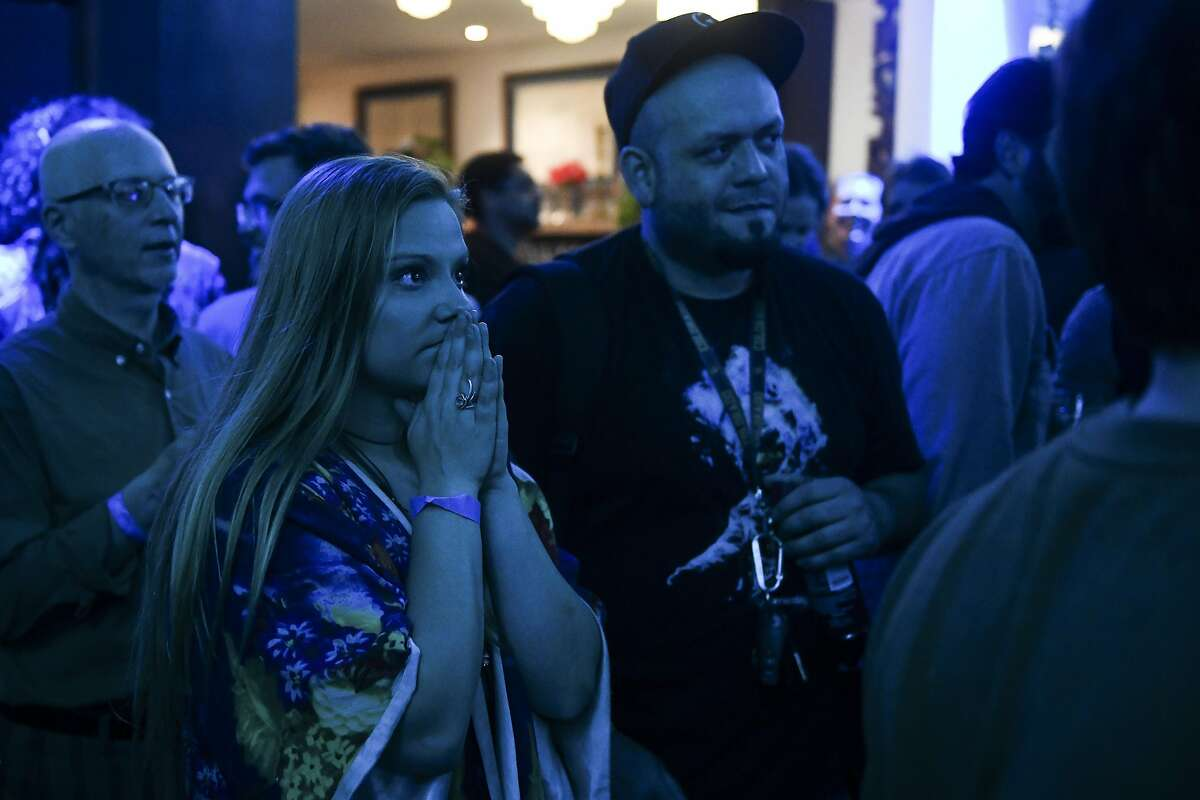 DENVER, CO - MAY 07: Psychedelic Club president Bethany Remington looks on as results come in at a watch party for the first bill in the nation that would decriminalize psilocybin mushrooms on May 7, 2019 in Denver, Colorado. If the bill passes, it would make possession, use or cultivation of psilocybin mushrooms by people aged 21 and older the lowest law enforcement priority in the city. (Photo by Michael Ciaglo/Getty Images)