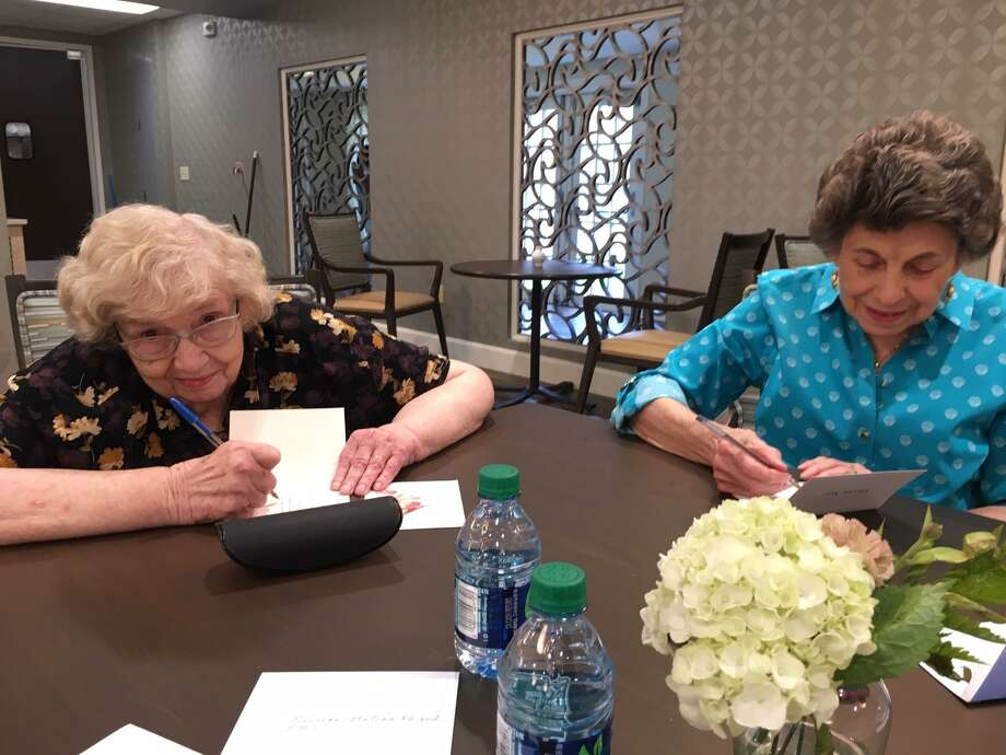 As Americans observe National Emergency Medical Services Week from May 19-25, senior residents at from Parkway Place handwrite thank-you letters on Thursday, May 23. The letters were later delivered to Houston Fire Department Station 86. Photo: Courtesy Photo