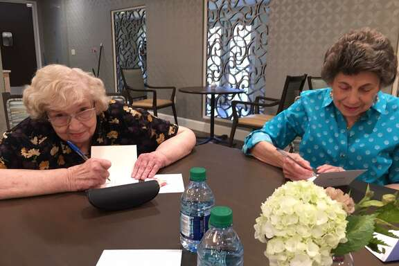 As Americans observe National Emergency Medical Services Week from May 19-25, senior residents at from Parkway Place handwrite thank-you letters on Thursday, May 23. The letters were later delivered to Houston Fire Department Station 86.