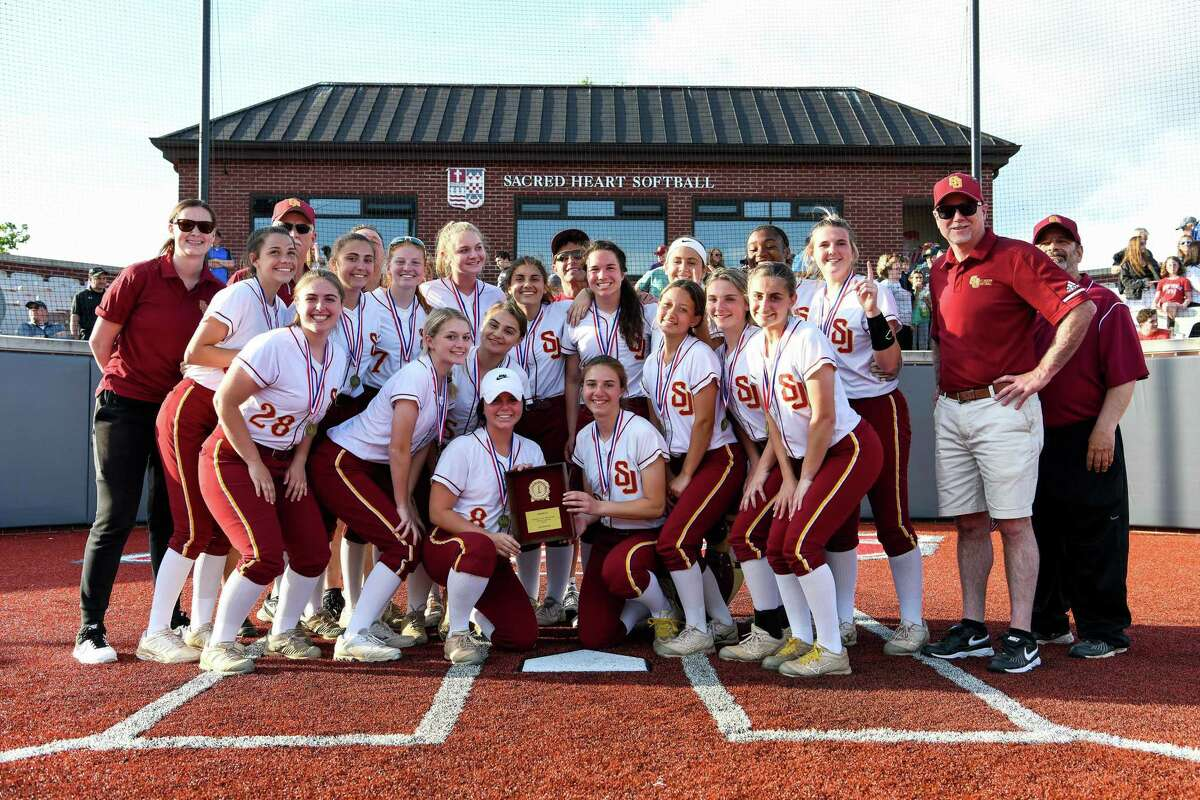 St. Joseph beat Trumbull 1-0 to with the FCIAC softball championship at Sacred Heart University in Fairifeld, Conn. on Friday, May 24, 2019.