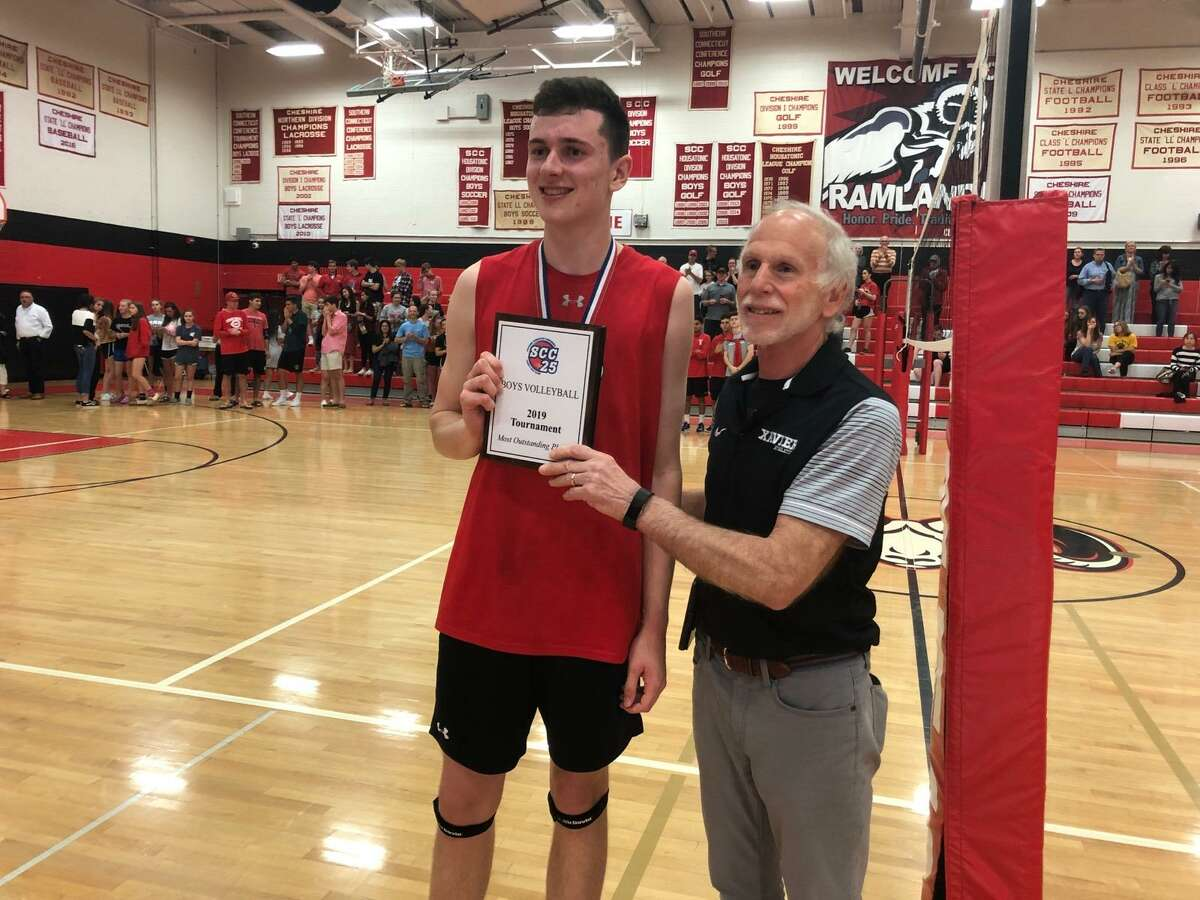 SCC boys volleyball MVP Colby Hayes of Cheshire.