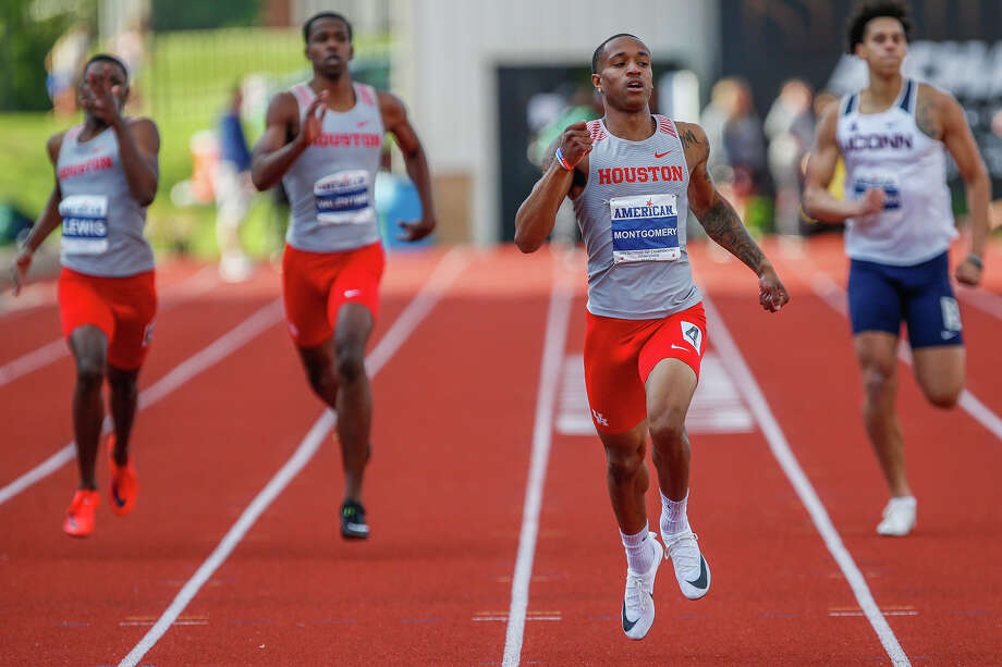 University of Houston track's Kahmari Montgomery. Photo: Courtesy Of UH
