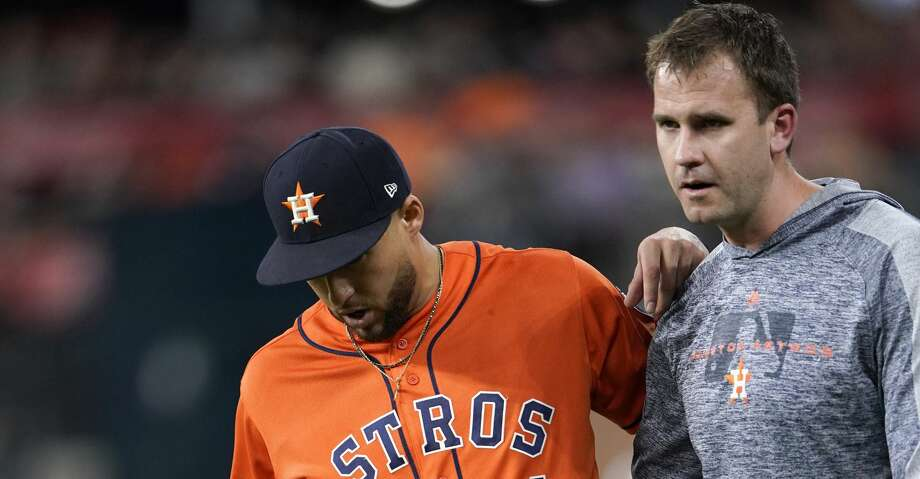 George Springer exits another Astros-Red Sox game with injury