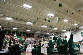 Students spend their final times in Laker High School as they celebrate the school's 2019 graduation.