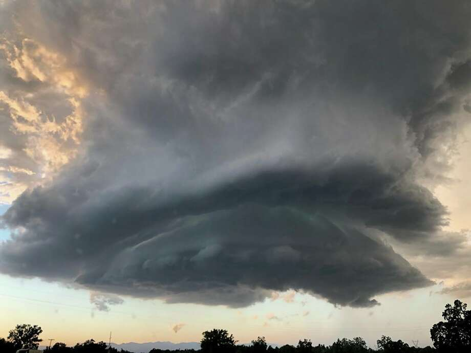 A tornado-like cloud formed on Highway 5 in Redding amid a tornado warning from the Sacramento office of the National Weather Service. Photo: Photo Courtesy Of Pedro Cota