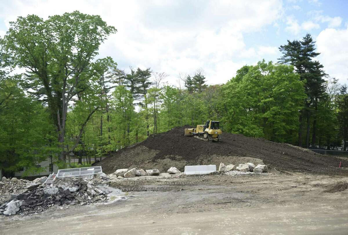 Construction continues on the campus of Stanwich School in Greenwich, Conn. Wednesday, May 15, 2019. Stanwich School will be merging with Greenwich Country Day School, which will move its Upper School into the former Stanwich campus.