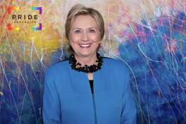 Hillary Clinton poses for Pride Portraits in Houston.