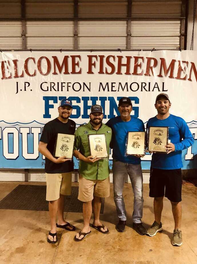 Winner of the hardware division of the 32nd annual J.P. Griffon fishing tournament was Team Only On Top. Team members (left to right) are Craig Anderson, Nick Gaido, Ray Malone and Cody Foree. Photo: Submitted Photo