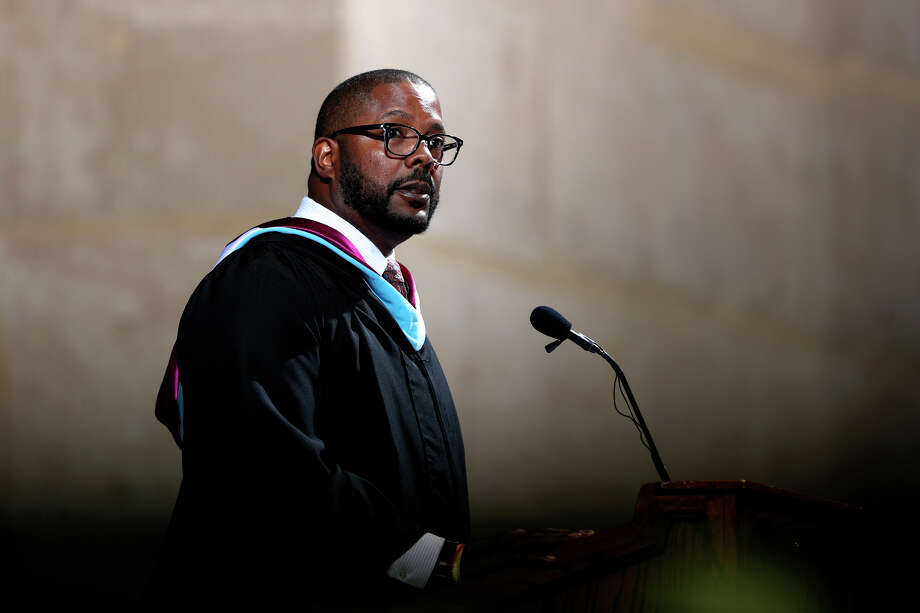 Midland Independent School District Superintendent Orlando Riddick speaks during the Lee High School commencement ceremony May 25, 2019 at Chaparral Center. James Durbin/Reporter-Telegram Photo: James Durbin / Midland Reporter- / © 2019 All Rights Reserved