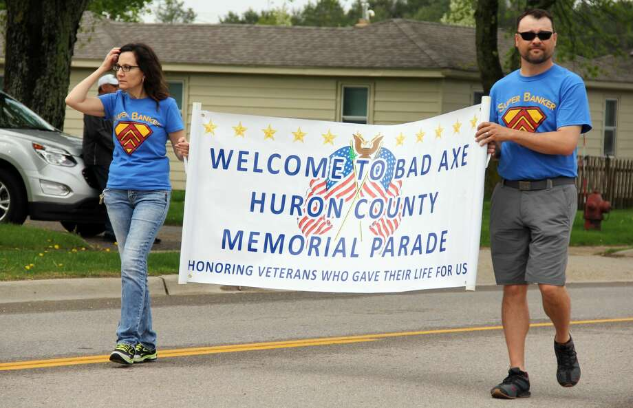 Veterans and Bad Axe residents celebrate Memorial Day Weekend during the Bad Axe Memorial Day Parade. The event capped off with a speech from U.S. Rep. Paul Mitchell, bag pipe performances and a 21 gun salute. Photo: Andrew Mullin/Huron Daily Tribune