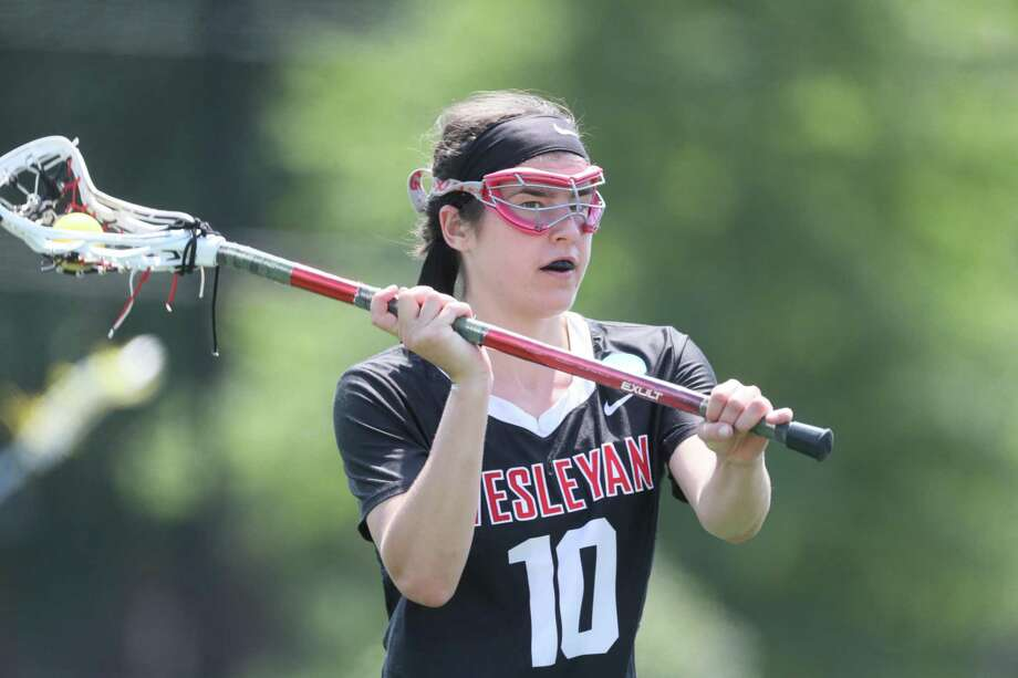 The Weseleyan women's lacrosse team fell to Middlebury in a national semifinal match on Saturday. Photo: Wesleyan University Athletics