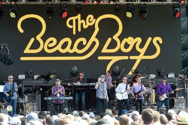 The Beach Boys perform during the Greenwich Town Party all day musical event at Roger Sherman Baldwin Park on May 25, 2019 in Greenwich, Connecticut.