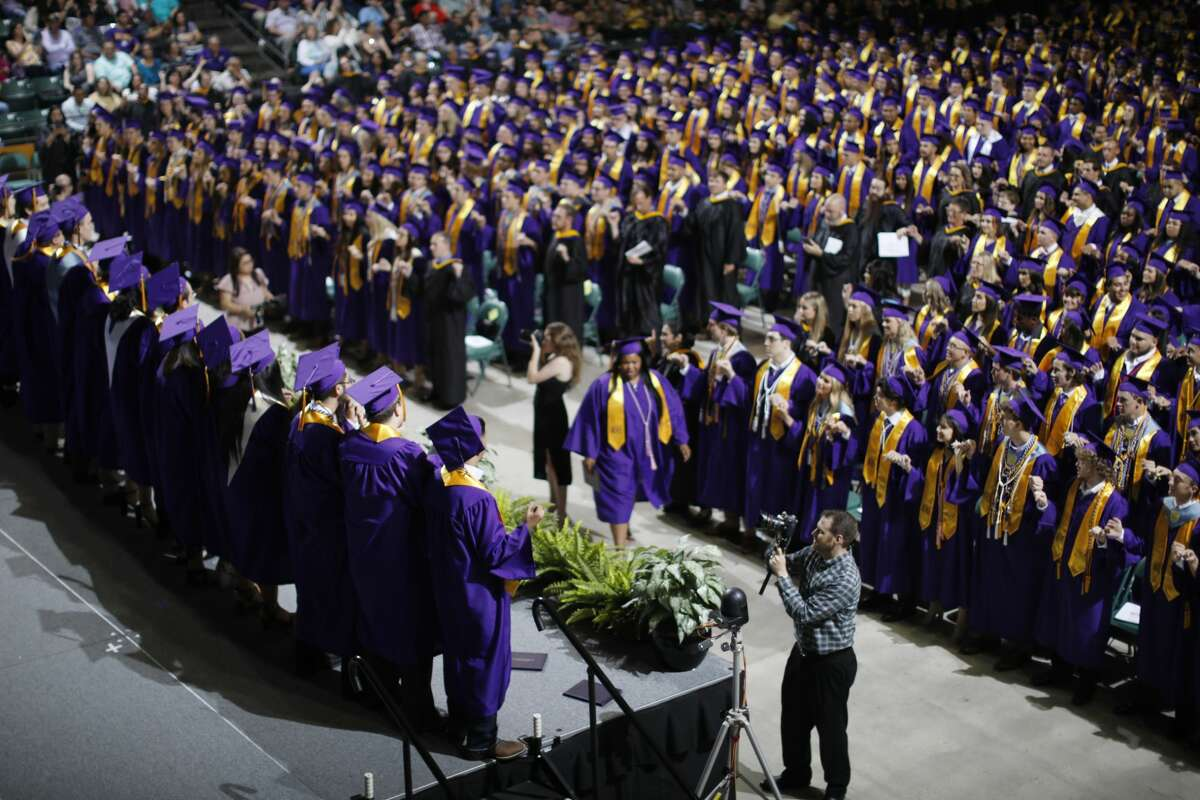 Midland High School commencement ceremony May 25, 2019 at Chaparral Center. James Durbin/Reporter-Telegram