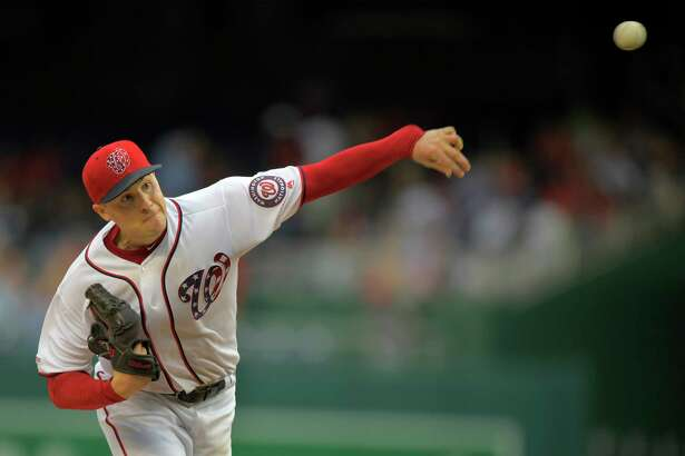 Nationals starting pitcher Patrick Corbin delivers a pitchin in the ninth inning Saturday against the Marlins. Corbin went the distance in helping Washington to a 5-0 victory.