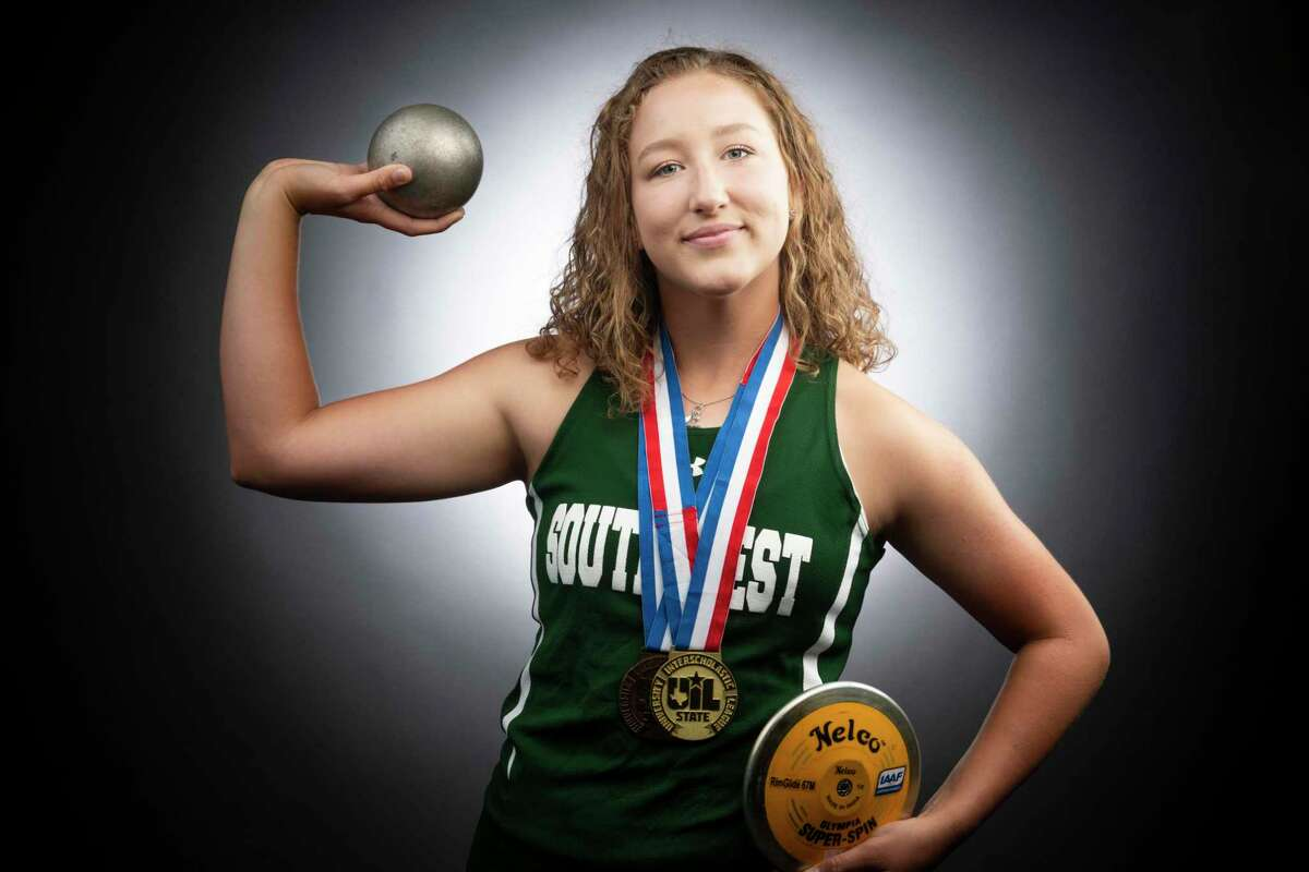 Southwest's Morgan Fey is the San Antonio Express News's Girls Field Athlete of the Year.
