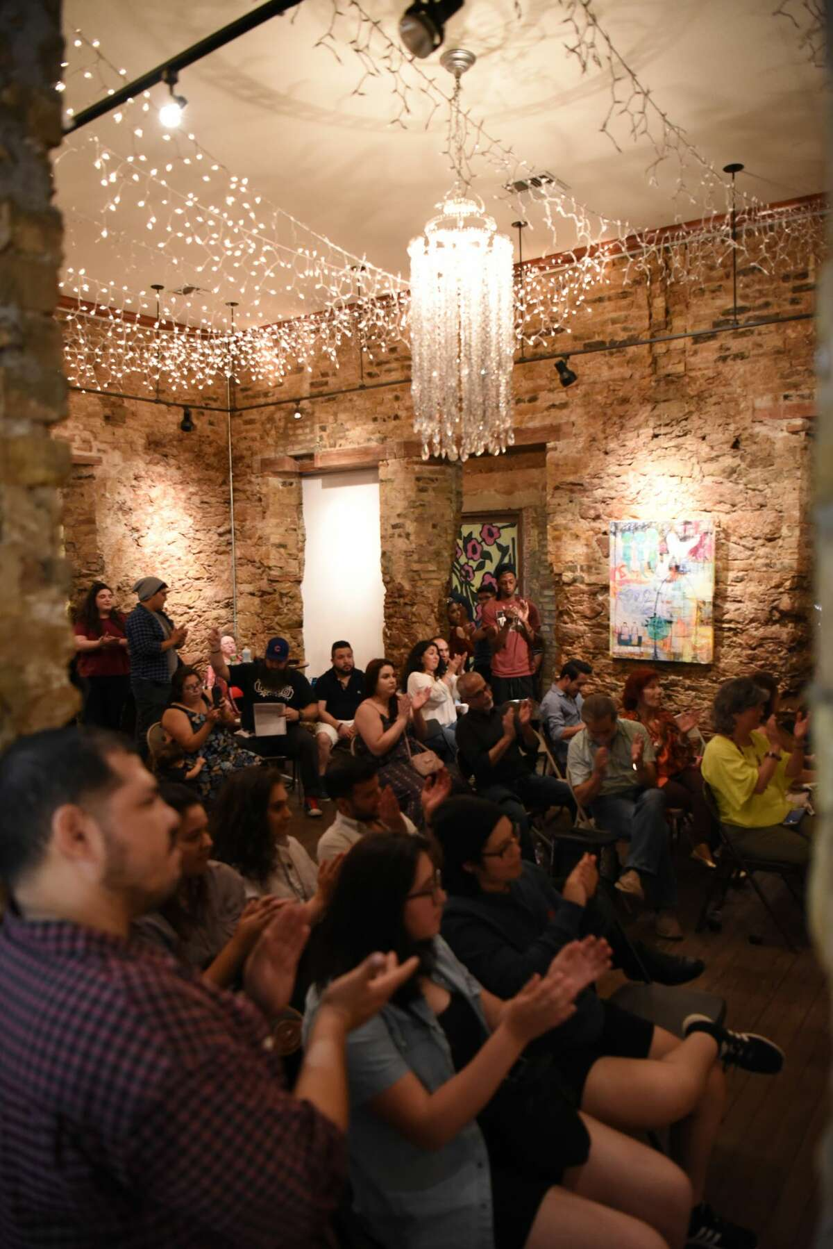 The Laredo BorderSlam Puro Slam poets dive deep into their emotions to give gripping poems to the audience and allow attendees to give their farewells to Slam host Julia Orduna, at Gallery 201.