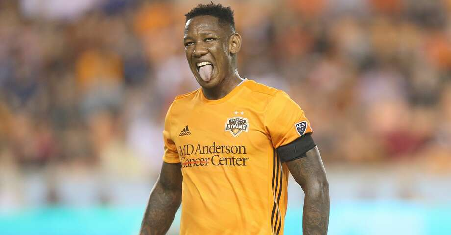 USA: TX: Houston: Houston Dynamo forward Romell Quioto (31) reacts after missing a scoring chance against  D.C. United in the first half on May 18, 2019 at BBVA Compass Stadium in Houston, TX. Photo: Thomas B. Shea/For The Chronicle