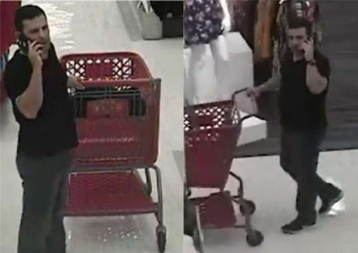 Laredo police said this man is wanted for questioning in connection with a theft.