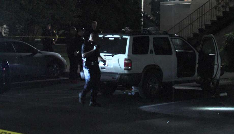 San Antonio police say one man was found dead with a gunshot to his chest overnight Sunday, May 26, 2019, at a student apartment complex near UTSA following an argument at a party there. Photo: 21 Pro Video