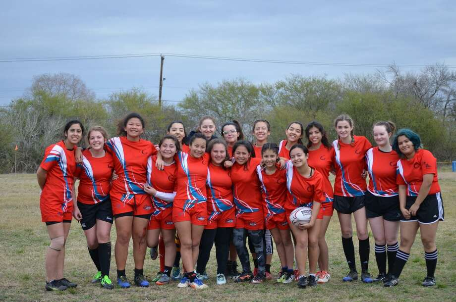 The Laredo Catan high school girls' team finished seventh while the middle school girls' squad placed third at the state touranment this season. Photo: Courtesy Of The Laredo Catan Rugby Club
