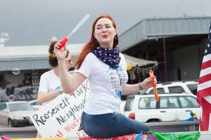 The Lone Star Neighborhood Association's Memorial Day weekend parade paid tribute to military service members with an artsy twist on San Antonio's South Side on Saturday, May 25, 2019.
