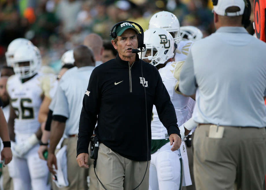 Baylor head coach Art Briles watches from the sideline during the first half of an NCAA college football game against SMU Friday, Sept. 4, 2015, in Dallas. (AP Photo/LM Otero) Photo: AP