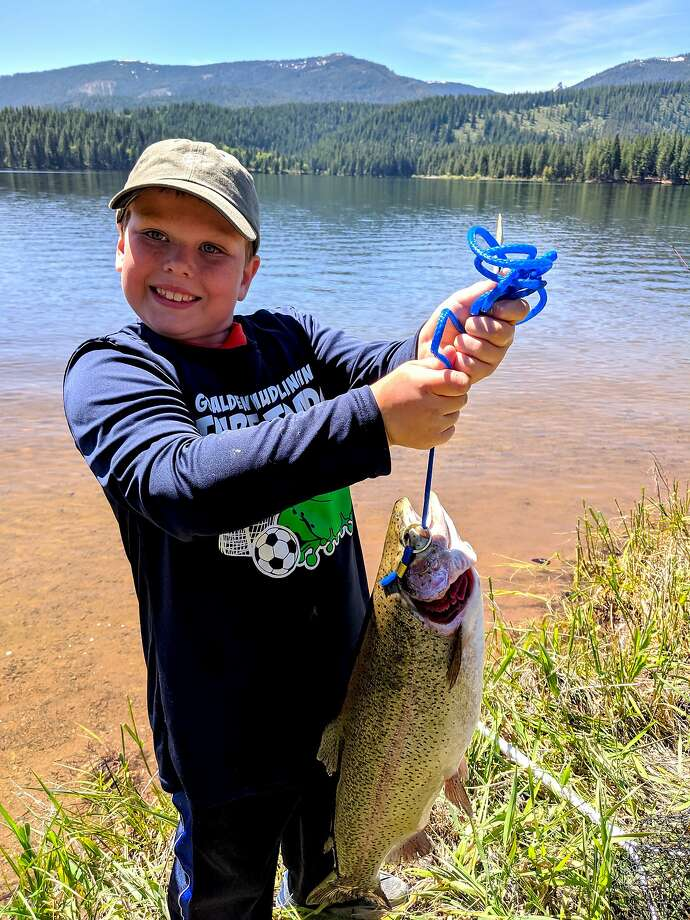 Jacob Cavitt, 8, of Auburn, caught a 24-inch, 5½-pound rainbow trout on Kid's Fishing Day at Lake Siskiyou Photo: Audra Beylik / Special To The Chronicle