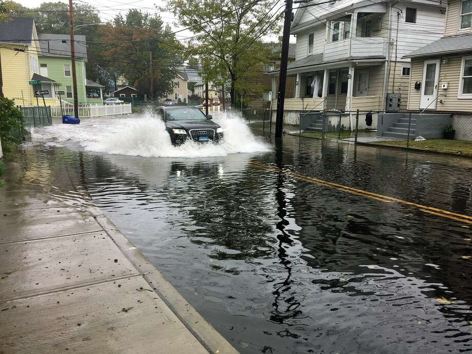 Burritt Avenue in Norwalk, Conn., saw flooding on Oct. 27, 2018. The city's Department of Public Works is hosting a public comment session on Tuesday, May 28, at 6 p.m. to hear from residents affected by flooding. Photo: Contributed Photo / Contributed Photo / Connecticut Post Contributed