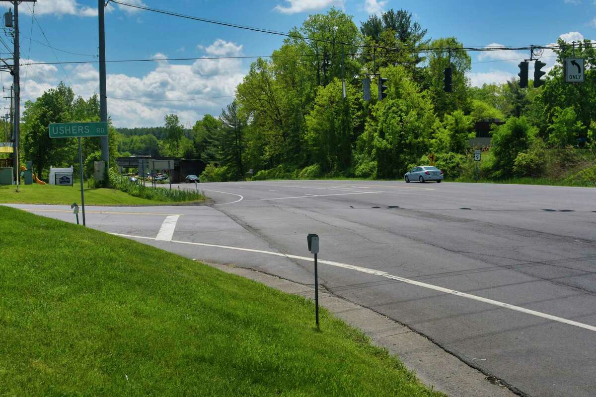 A view looking south of the intersection of Route 9 and Ushers Road on Sunday, May 26, 2019, in Clifton Park, N.Y. (Paul Buckowski/Times Union)