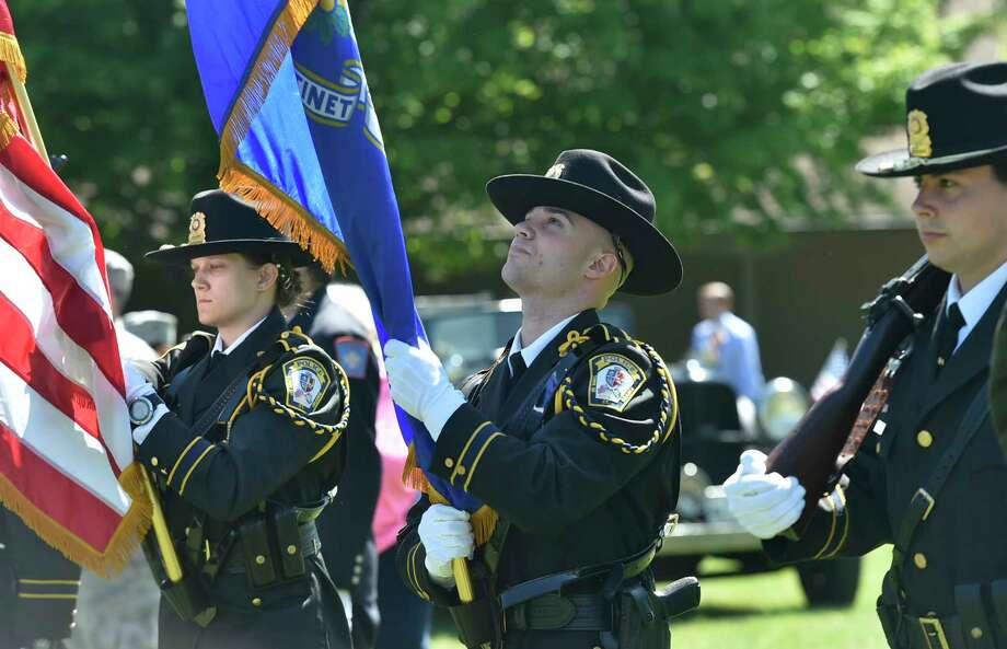 Orange, Connecticut - Sunday, May 26, 2019:  Orange Memorial Day opening ceremony Sunday morning at the High Plains Community Center Fairgrounds gazebo. Photo: Peter Hvizdak, Hearst Connecticut Media / New Haven Register