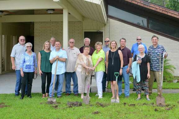 "Representatives from the ""Rise from the Water"" Capital Campaign, Trustees and Building Committees, Children and Youth Ministries, Methodist Men, Music Ministry, Prayer Ministry, Hospitality Team and others turned over shovels of dirt to symbolize a new beginning at the groundbreaking on the new sanctuary at the Lake Houston United Methodist Church in Huffman on May 19."