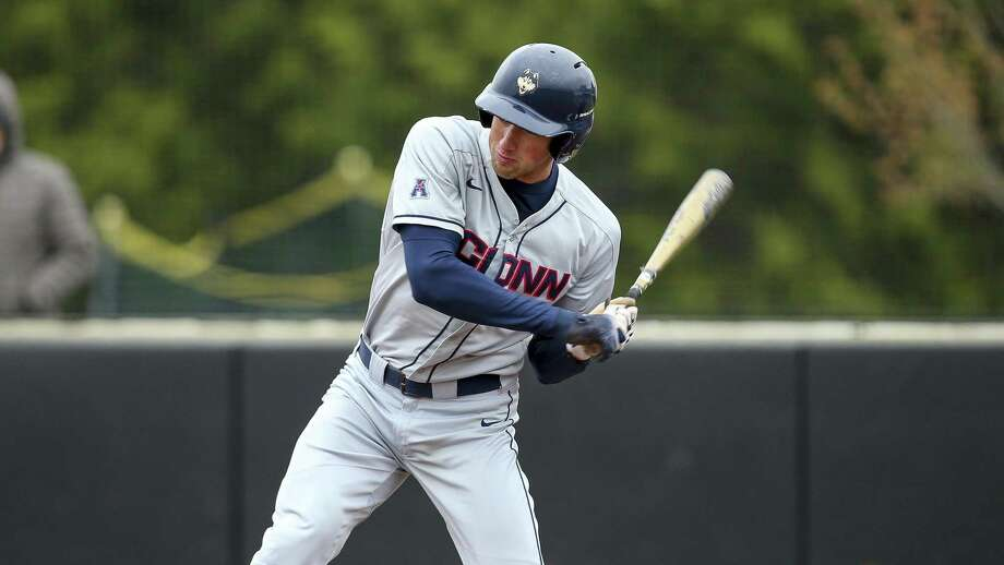UConn first baseman Chris Winkel was one of top hitters in American Athletic Conference tournament. Photo: Stew Milne / Associated Press / Copyright 2019 The Associated Press. All rights reserved.