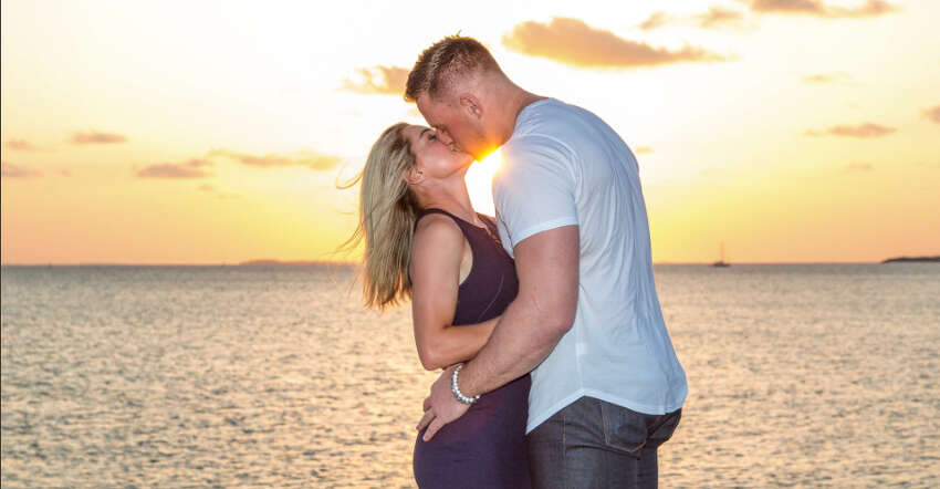 Houston Texans defensive end J.J. Watt and Kealia Ohai got engaged in May.