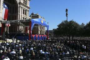 Governor Greg Abbott speaks after being sworn in as Governor during the 2015 Texas Inaugural Oath of Office Ceremony in Austin on Tuesday, Jan. 20, 2015.