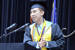 Joey Lu, who is also the senior class president, was one of the valedictorians for Saturday's graduation ceremony at Edwardsville High School.