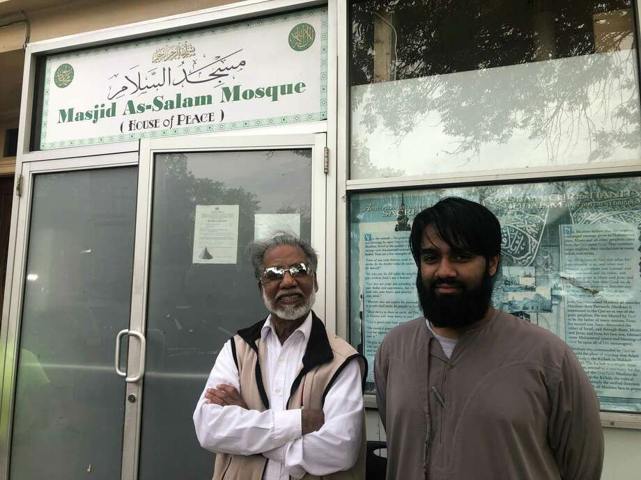 Masjid As-Salam President Shamshad Ahmad and member Abuhamza Hossain, who helped raise checks nearly $50,000 in a week for Albany fire victims, invited them to the Central Avenue mosque on Sunday, May 26, 2019 in Albany, N.Y. Photo: Mallory Moench/Times Union