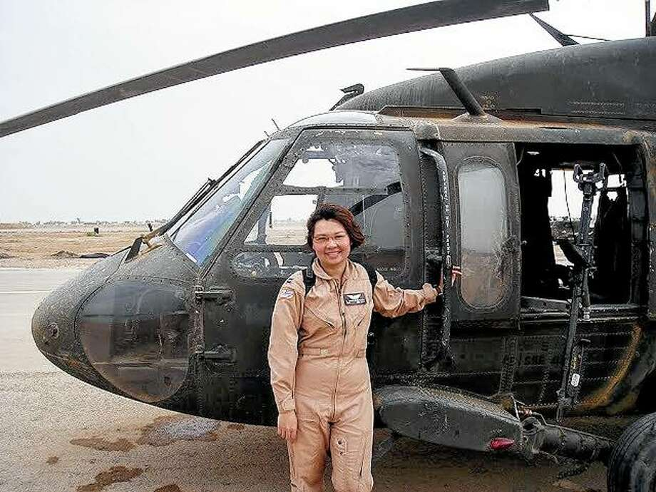 Sen. Tammy Duckworth of Illinois was deployed to Iraq as a Black Hawk helicopter pilot in 2004. Duckworth's helicopter was shot down in Iraq by a rocket-propelled grenade on Nov. 12, 2004.