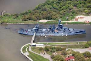 The U.S.S. Texas (BB-35) is shown moored in the Battleship Texas State Historic Site on Wednesday, March 20, 2019, in Houston.