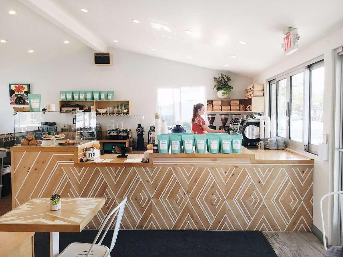 The interior of Cat and Cloud Coffee in Santa Cruz.