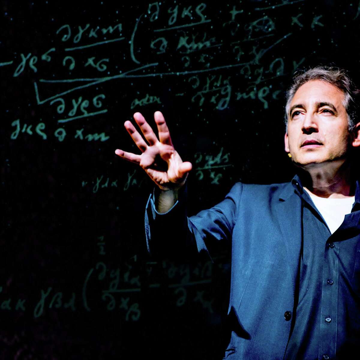 """Playwright Brian Greene, a Columbia University physicist, in a scene from his work """"Light Falls."""""""