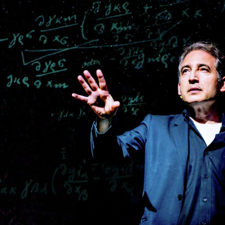 "Playwright Brian Greene, a Columbia University physicist, in a scene from his work ""Light Falls."" Photo: PBS / PBS"