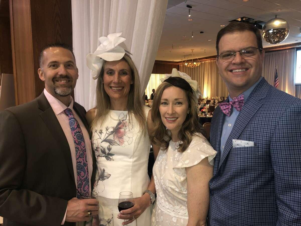 Jockeys and Juleps: Scott and Amanda Rovira, from left, and Tana and Shad Frazier