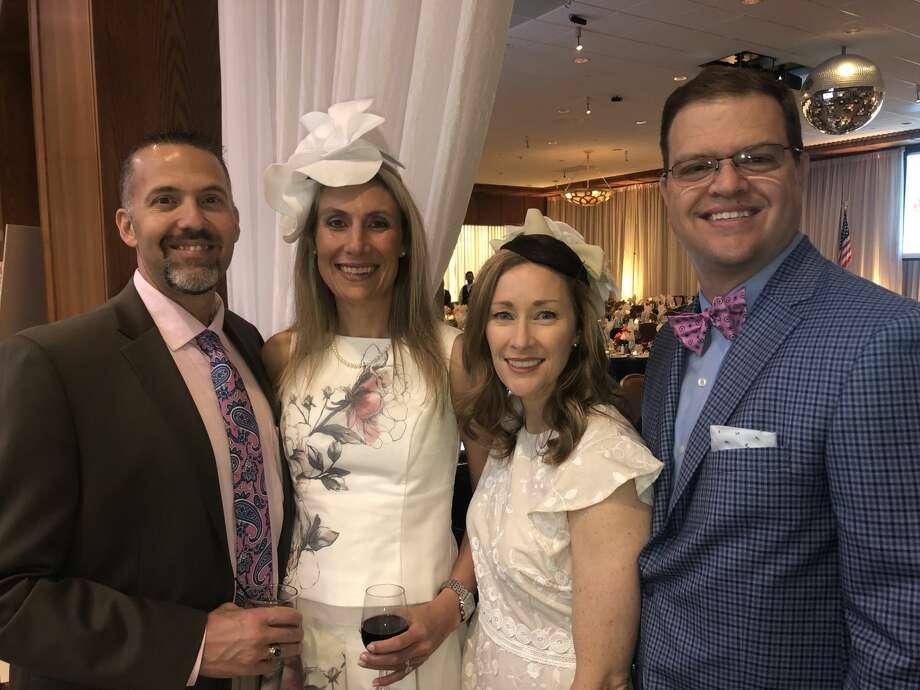 Jockeys and Juleps: Scott and Amanda Rovira, from left, and Tana and Shad Frazier Photo: Courtesy Photo