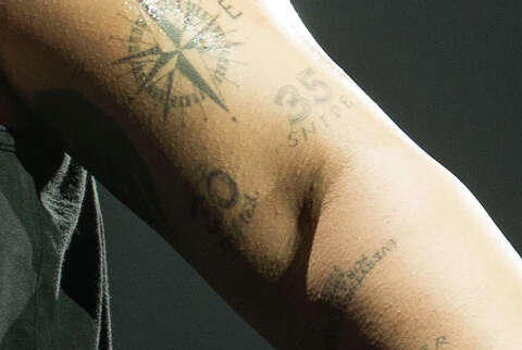 7400c4dca49cc <p>A close-up of rapper Drake's tattoo in honor of Kevin Durant