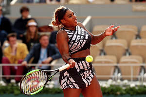 PARIS, FRANCE - MAY 27:  Serena Williams of The United States plays a forehand during her ladies singles first round match against Vitalia Diatchenko of Russia during Day two of the 2019 French Open at Roland Garros on May 27, 2019 in Paris, France. (Photo by Adam Pretty/Getty Images)
