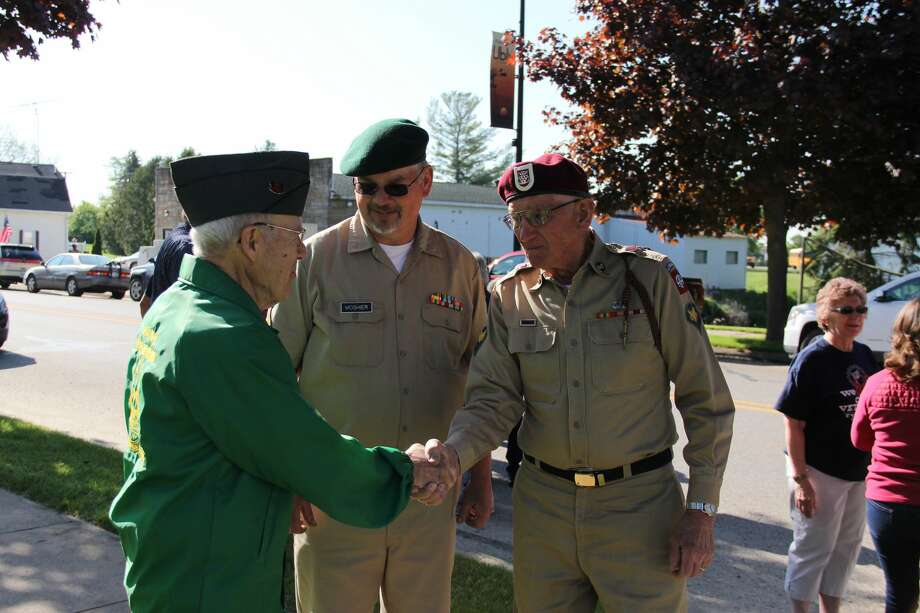 The village of Ubly honored those in the service, past and present, Monday morning with a ceremony and parade at Veterans Park in Ubly. Photo: Andrew Mullin/Huron Daily Tribune
