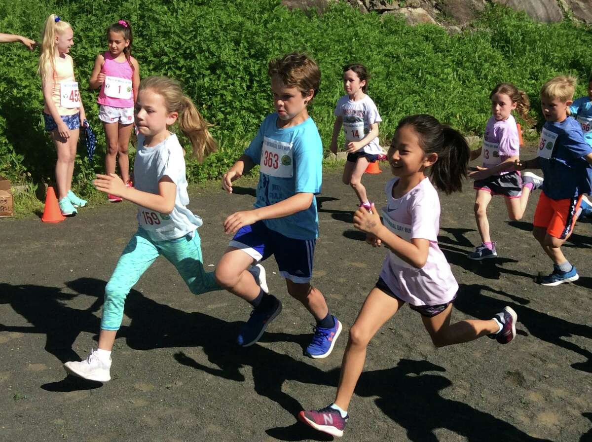 The 55th annual Jim Fixx Memorial Day 5-mile run held in Greenwich on Monday included a 1/2-mile run for kids.